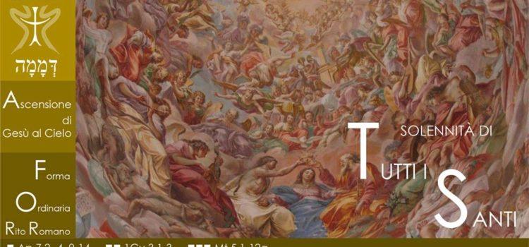 1 Novembre '18 – Solennità di tutti i santi