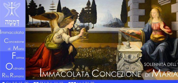 8 Dicembre '18 – Immacolata Concezione di Maria